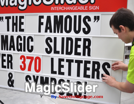 Signs supplies changeable signs properties of the for Signs you can change letters